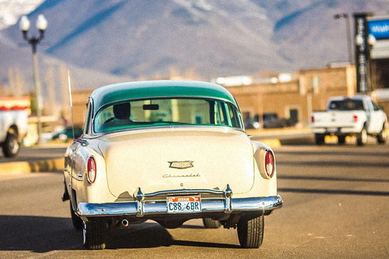 American car in the street